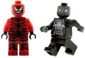 Carnage & Black Spiderman - Custom Designed Minifigures